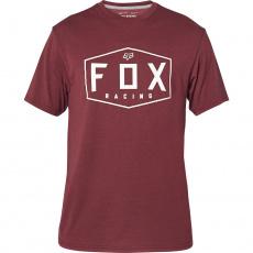 Pánské triko Fox Crest s Tech Tee Cranberry
