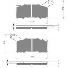 brzdové desky DP jako GF 261