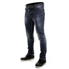 Kevlarové moto kalhoty OVERLAP DEREK modré