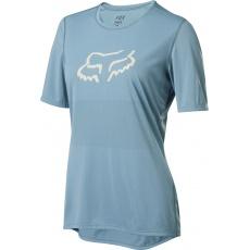 Dámský cyklo dres Fox Wmns Ranger s Jersey Light Blue