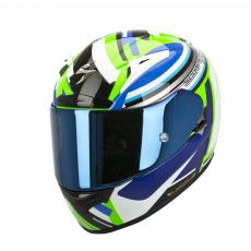 Moto přilba SCORPION EXO-2000 EVO AIR AVENGER neonově zeleno/modrá
