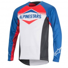 Alpinestars Mesa LS Jersey dres Royal Blue Red White
