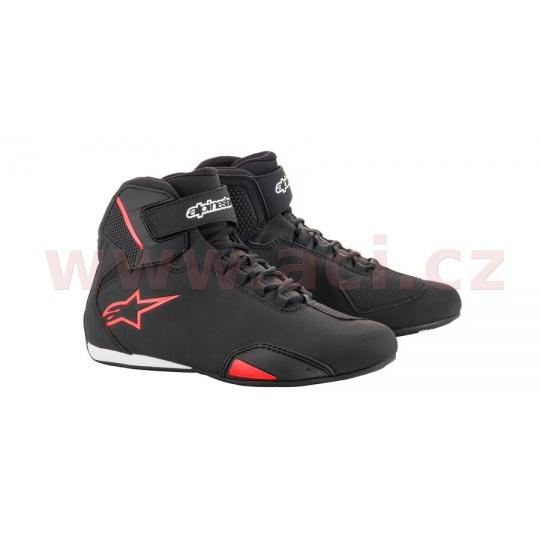 boty SEKTOR, ALPINESTARS (černé/červené)