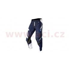 kalhoty TECHSTAR FACTORY, ALPINESTARS (bílá/tmavá modrá navy)