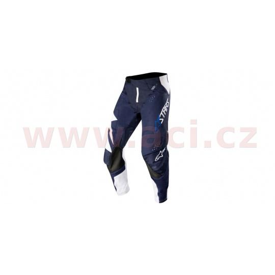 kalhoty TECHSTAR FACTORY 2019, ALPINESTARS (bílá/tmavá modrá navy)