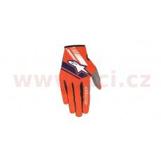 rukavice NEO 2021, ALPINESTARS (oranžová fluo/tmavá modrá)