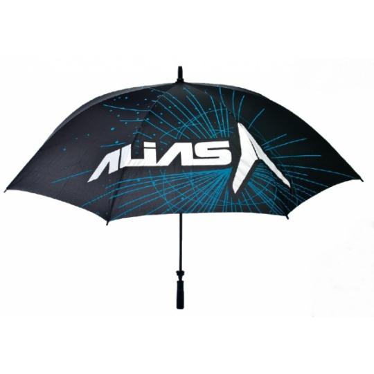 Deštník ALIAS MX černý/cyan