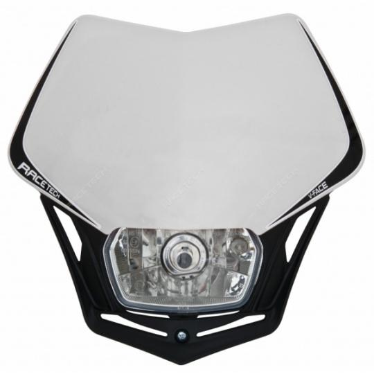 Maska na moto RTECH V-FACE bílá