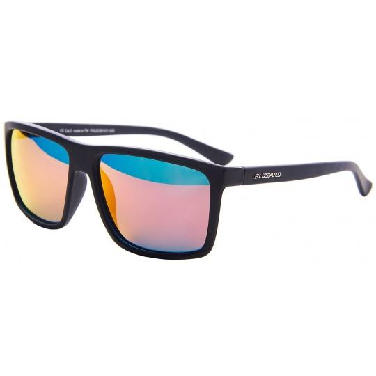 sluneční brýle BLIZZARD sun glasses POLSC801011, rubber black, 65-17-140