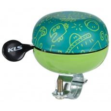 KELLYS Cyklistický Zvonek Bell 60 Doodles green