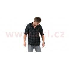 košile CHECK, 101 RIDERS (černá/šedá)