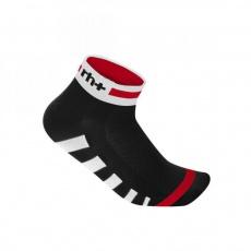 ponožky RH+ Ergo Sock 3, black/white/red
