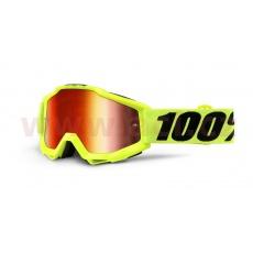 brýle Accuri Youth Fluo Yellow, 100% (žlutá, červené chrom sklo)