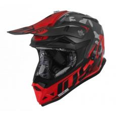 Moto přilba JUST1 J32 PRO SWAT camo červená fluo