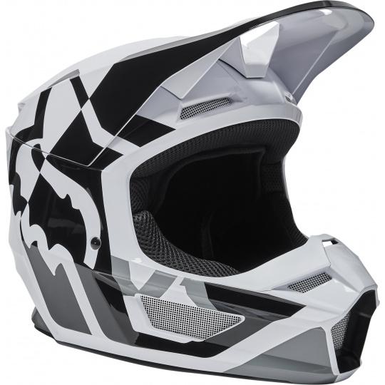 Pánská přilba Fox V1 Lux Helmet, Ece Black/White