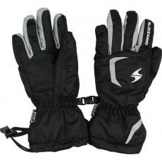 lyžařské rukavice BLIZZARD Reflex junior ski gloves, black/silver