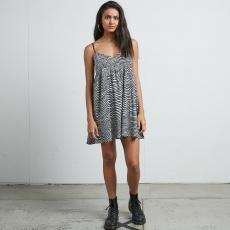 Dámské šaty Volcom Thx Its A New Dress Black White