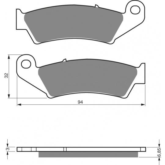 brzdové desky GOLDFREN 041 S33