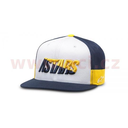 kšiltovka FASTER HAT, ALPINESTARS (bílá/tmavě modrá/zlatá)