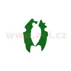 gumové protektory rámu Kawasaki, VIBRAM (sada, zelená)