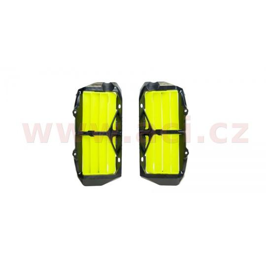 žaluzie chladiče KTM/Husqvarna, RTECH (neon žluté, pár)
