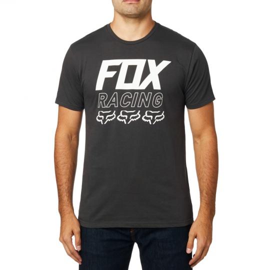 Pánské triko Fox Overdrive Ss Premium Tee Black Vintage