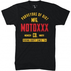 Tričko Moto XXX GASKET černá *