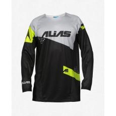 Motokrosový dres ALIAS MX A1 STANDARD černo/šedý 2162-326