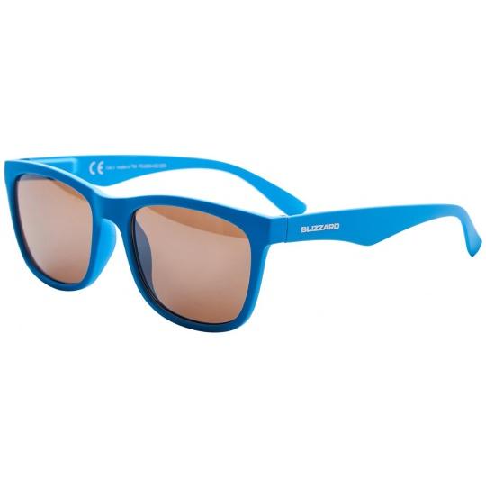 sluneční brýle BLIZZARD sun glasses PC4064003, rubber bright blue, 56-15-133