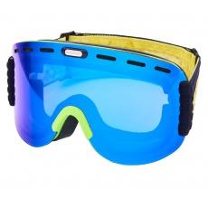 lyžařské brýle BLIZZARD Ski Gog. 922 MDAVZO, neon green matt, smoke2, blue mirror