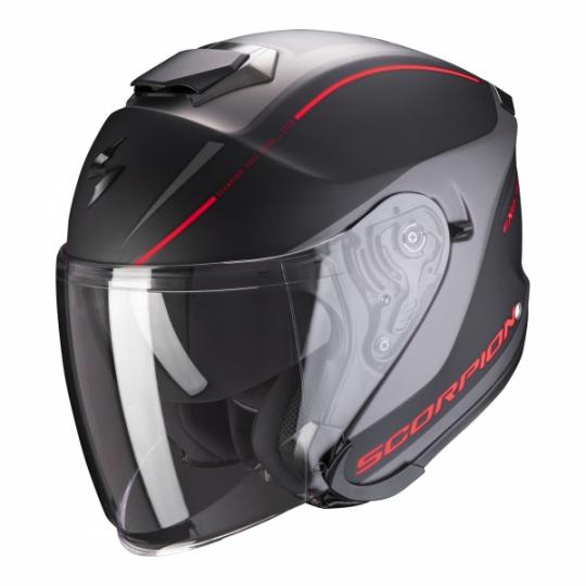 Moto přilba SCORPION EXO-S1 SHADOW matná černo/červená