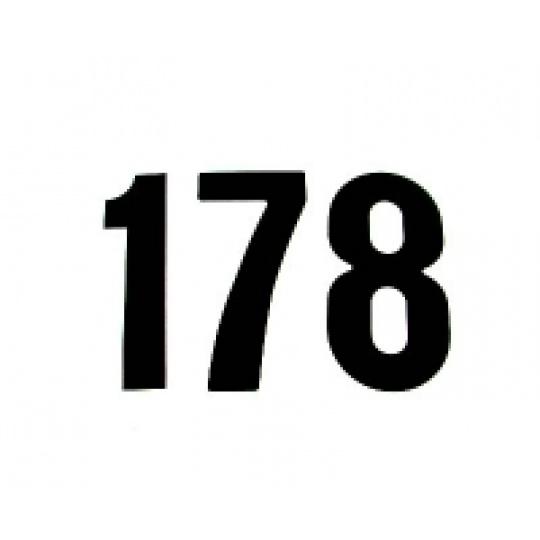 čísla malá černá 0
