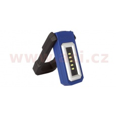 pracovní svítilna LED výklopná, nabíjecí, s magnetem a uchem pro zavěšení