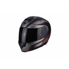 Moto přilba SCORPION EXO-3000 AIR STROLL matná černo/stříbrno/červená