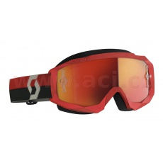 brýle HUSTLE X MX, SCOTT (červené/šedé, oranžové chrom, plexi s čepy pro slidy)