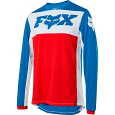 Pánský Cyklistický dres Fox INDICATOR LS AUGUST LE JERSEY Navy/Red