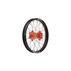 """zadní kolo kompletní (19"""" x 2,15"""") KTM, Q-TECH (černý ráfek, oranžový střed)"""