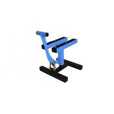 stojan MX, Q-TECH (černá matná/modrá neon)