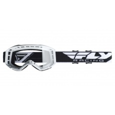 brýle FOCUS, FLY RACING (bílé, čiré plexi bez pinů)