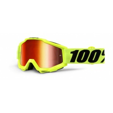 ACCURI Goggle Fluo Yellow - Red Mirror Lens