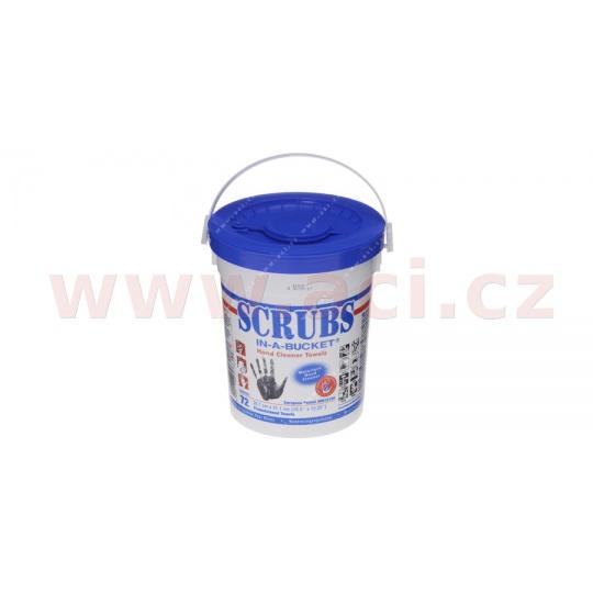 SCRUBS - vlhčené utěrky (27x31 cm) na čištění rukou, balení 72 ks