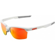 Sportcoupe Matte White - HiPer Red Multilayer Mirror Lens