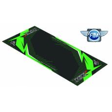 Koberec pod moto 100x160cm Hurly KAWASAKI KXF 4T černo/zelený