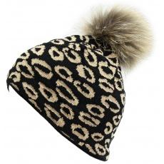 čepice BLIZZARD Leopard, black