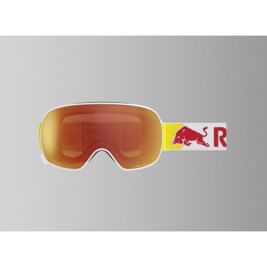 lyžařské brýle RED BULL SPECT Goggles, MAGNETRON-003, matt white frame/white headband, lens: red snow CAT2