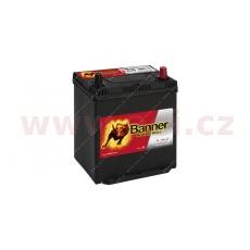 40Ah baterie, 330A, pravá, úzké póly BANNER Power Bull 187x137x204(226)