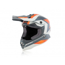 motokros přilba Acerbis Junior Steeloranž/šedá