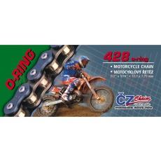 řetěz 428OR, ČZ - ČR (barva černá, 118 článků vč. rozpojovací spojky CLIP)