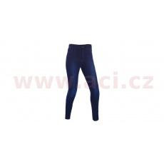 ZKRÁCENÉ kalhoty JEGGINGS, OXFORD, dámské (legíny s Kevlar® podšívkou, modré indigo)