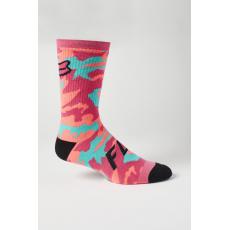 """Cyklo ponožky Fox 8"""" Defend Sock Pink"""